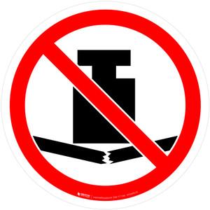 No Heavy Load Prohibition - ISO Floor Sign