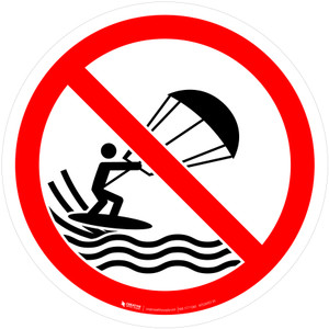 No Kite Surfing Prohibition - ISO Floor Sign