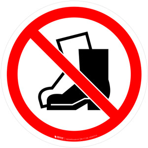 No Outdoor Footwear Prohibition - ISO Floor Sign