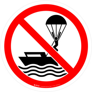 No Parasailing Prohibition - ISO Floor Sign