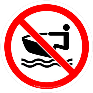 No Personal Water Craft - ISO Floor Sign