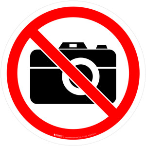 No Photography Prohibition - ISO Floor Sign