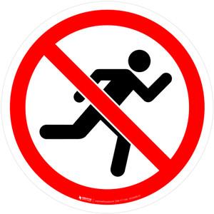 No Running Prohibition - ISO Floor Sign