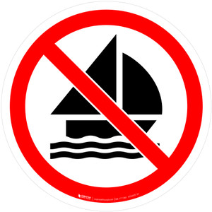 No Sailing Prohibition - ISO Floor Sign