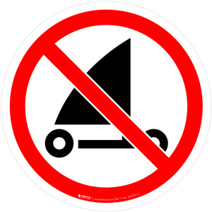 No Sand Yachting Prohibition - ISO Floor Sign