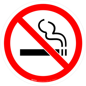 No Smoking Prohibition - ISO Floor Sign