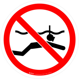 No Snorkeling Prohibition - ISO Floor Sign