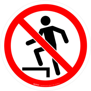 No Stepping on Surface Prohibition - ISO Floor Sign