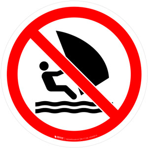 No Windsurfing Prohibition - ISO Floor Sign