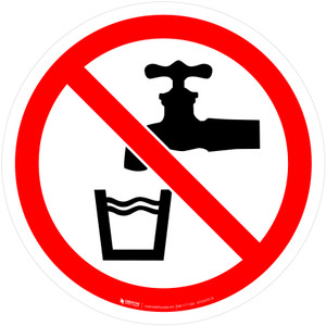 Not Drinking Water Prohibition - ISO Floor Sign