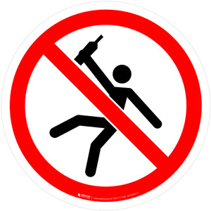 Not for People in the State of Intoxication Prohibition - ISO Floor Sign