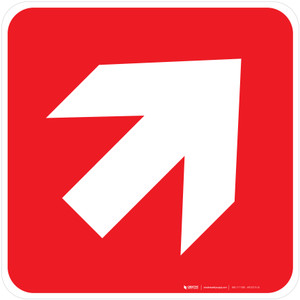 Direction Arrow 45° to the Right Fire Safety - ISO Floor Sign