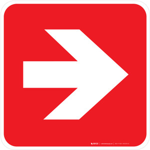 Direction Arrow Right Fire Safety - ISO Floor Sign