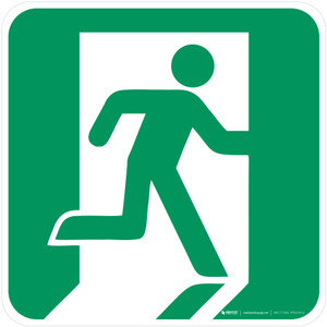 Emergency Exit Right Safe Condition - ISO Floor Sign