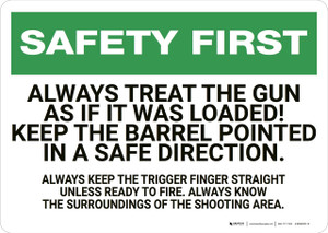 Safety First: Gun Safety - Wall Sign