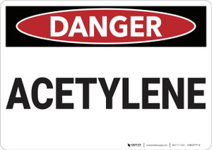 Danger: Acetylene - Wall Sign