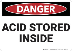 Danger: Acid Storage Inside - Wall Sign