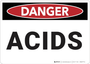 Danger: Acids - Wall Sign