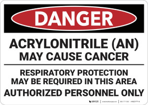 Danger: Acrylonitrile May Cause Cancer - Wall Sign