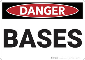 Danger: Bases - Wall Sign