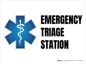 Emergency Triage Station with Icon Landscape - Wall Sign