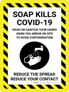 Soap Kills Covid-19 with Icon Portrait - Wall Sign
