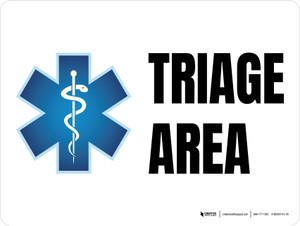 Triage Area with Icon Landscape - Wall Sign