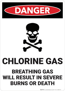 Danger: Chlorine Gas - Wall Sign
