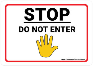 Stop Do Not Enter with Hand Emoji - Wall Sign