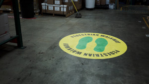 Pedestrian Walkway Footprints - SignCast S200 Virtual Sign