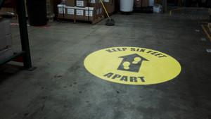 Keep Six Feet Apart - SignCast S200 Virtual Sign