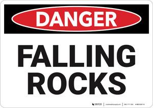 Danger: Falling Rocks - Wall Sign