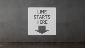 Line Starts Down Arrow - SignCast S200 Virtual Sign