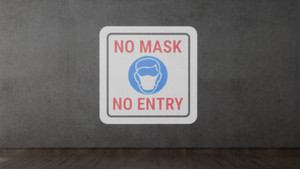 No Mask/No Entry - SignCast S200 Virtual Sign
