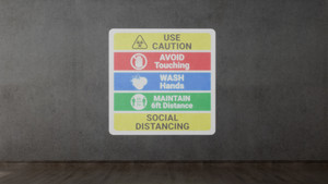 Social Distance List - SignCast S200 Virtual Sign