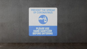 Prevent Coronavirus - Please Use Hand Sanitizer - SignCast S200 Virtual Sign