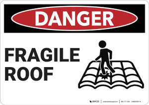 Danger: Fragile Roof - Wall Sign