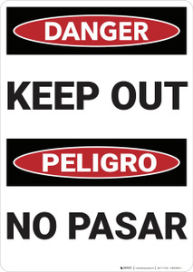 Danger: Keep Out Bilingual - Wall Sign