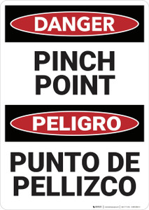 Danger: Pinch Point Bilingual - Wall Sign