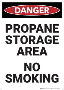 Danger: Propane Storage Area - Wall Sign