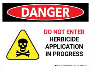 Danger: Herbicide Application In Landscape - Wall Sign