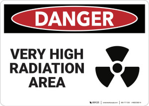 Danger: Very High Radiation Area - Wall Sign