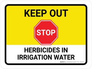 Stop Keep Out Herbicides In Landscape - Wall Sign
