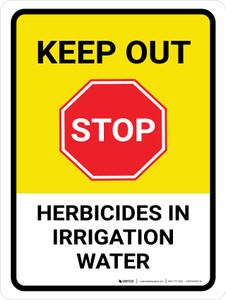 Stop Keep Out Herbicides In Portrait - Wall Sign