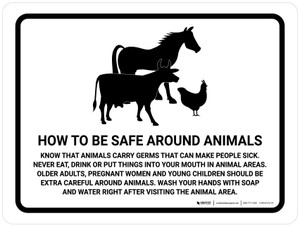 How To Be Safe Around Animals Landscape - Wall Sign