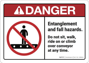 Danger: Entanglement and Fall Hazards - Wall Sign