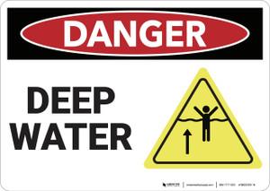 Danger: Deep Water - Wall Sign