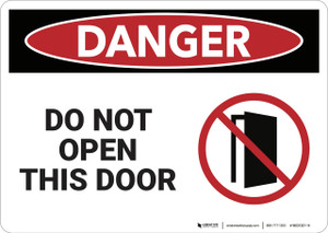 Danger: Do Not Open This Door - Wall Sign
