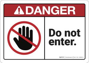 Danger: Do Not Enter ANSI - Wall Sign