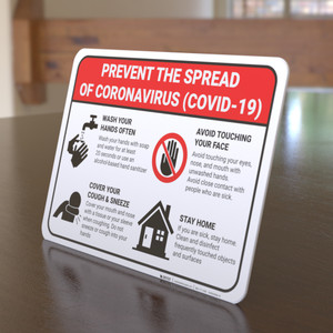 Prevent the Spread of Coronavirus - Desktop Sign
